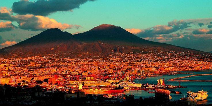 Napoli - skyline with the Vesuvio