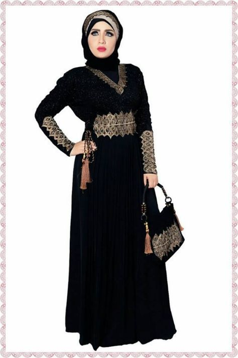 Dubai Kaftan Black Abaya Jalabiya Dress New Very Fancy Chiffon Wedding Abaya | Clothing, Shoes & Accessories, Women's Clothing, Dresses | eBay!