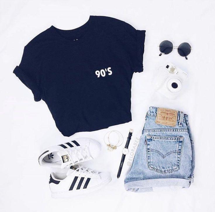 Hemd und Handschuhe, # Handschuhe # T-Shirt – Frauen Sommer Mode