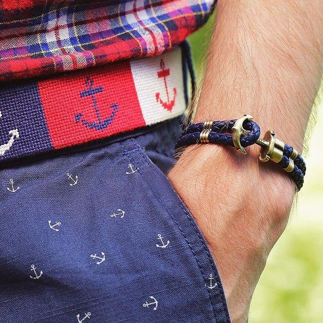 Fantastic combination (anchor bracelet & belt) from @paul_hewitt. #paulhewitt