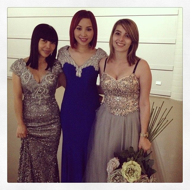 3of our gorgeous models: Ti, Lily & Karisa with gorgeous gowns from Windsor & Lux & Bhrasi. #bling