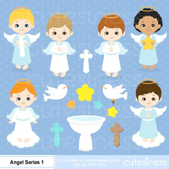 Angel Digital Clipart gráfico Ángel Angel Clip Art por Cutesiness