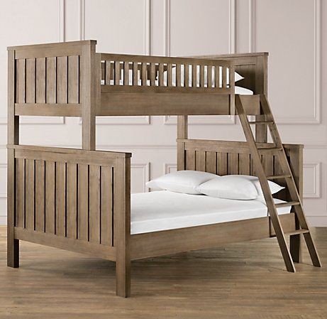 Kenwood twin over full bunk bed from restoration hardware.