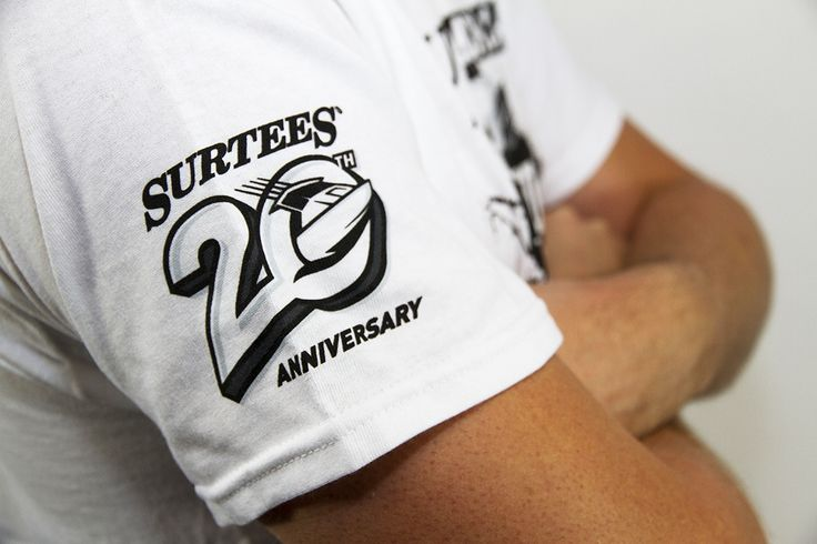 Surtees Boats 20th Anniversary t-shirt by Onfire Design