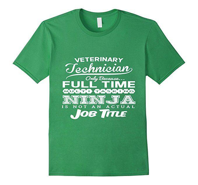 Men's Ninja Veterinary Technician Funny T-shirt 3XL Grass
