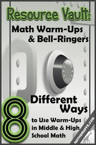 8 Unique Formats for Great Ways to Implement Math Warm-Ups