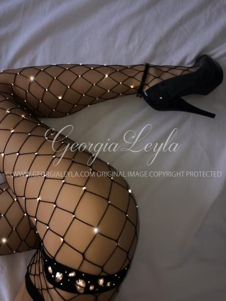 Georgia Leyla Black fishnet tights with REAL Swarovski crystals. (not rhinestones or sparkles).  #hosiery #pantyhose #stockings