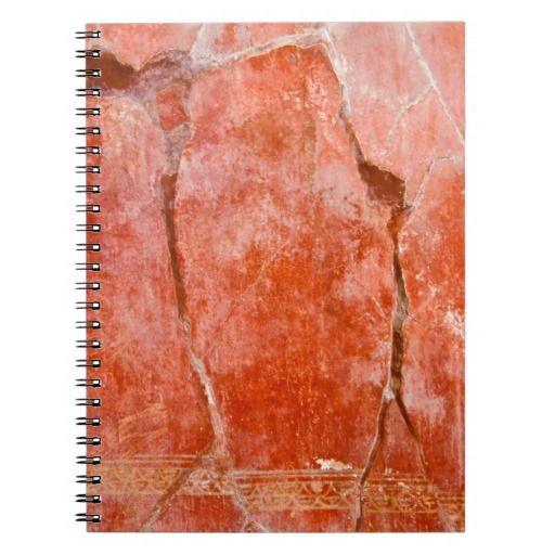 Red Pompeii Notebook - $14.95