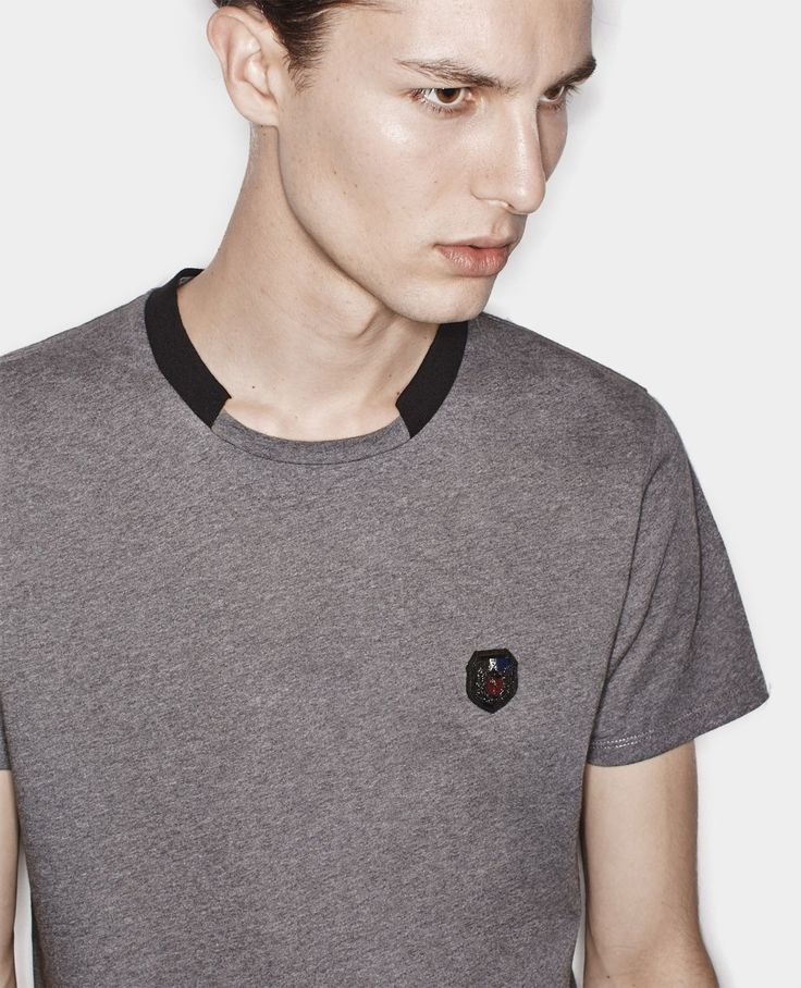 Round neck T-Shirt with crest - T Shirts - Men - The Kooples