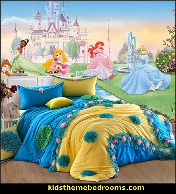 Disney dancing princess wall mural roommates flower for Princess themed bed