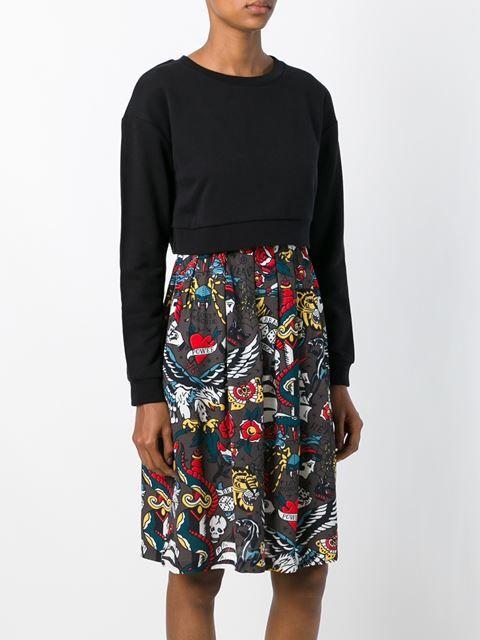 Love Moschino платье-толстовка с принтом