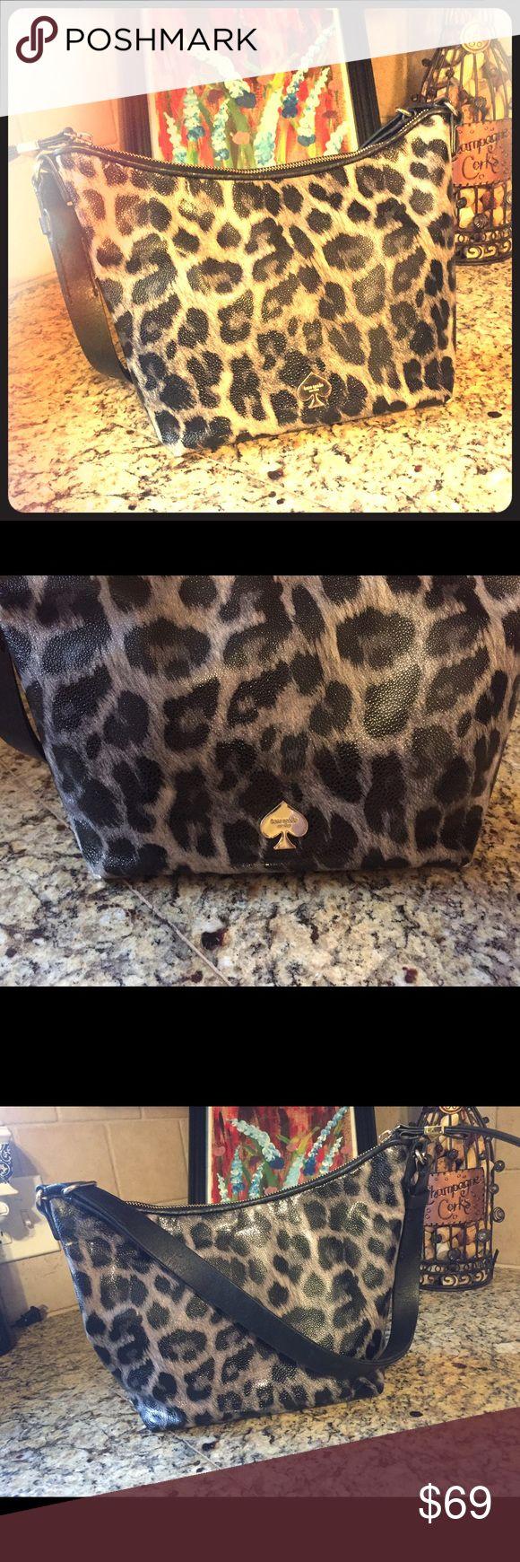 Kate Spade Animal Print Handbag Kate Spade Handbag. A little wear & tear, but overall still looks great! kate spade Bags Satchels