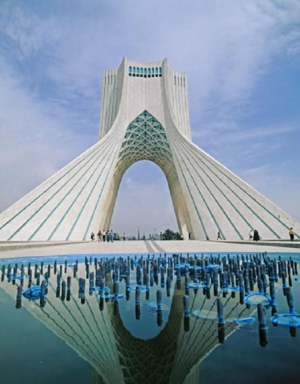Azadi Tower (Shahyade) en Teheran, Iran http://www.siliconinfo.com/cad-outsourcing-services/civil-design-2d-drafting-3d-modeling.html #CivilDesigningandDraftingservices #CivilDesigning