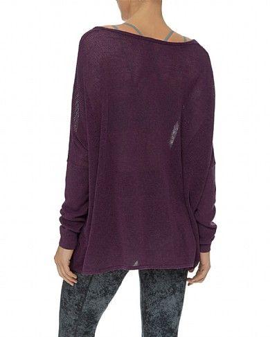 Sweaty Betty - Purusha Long Sleeve Cotton Knit - red/pink/purple