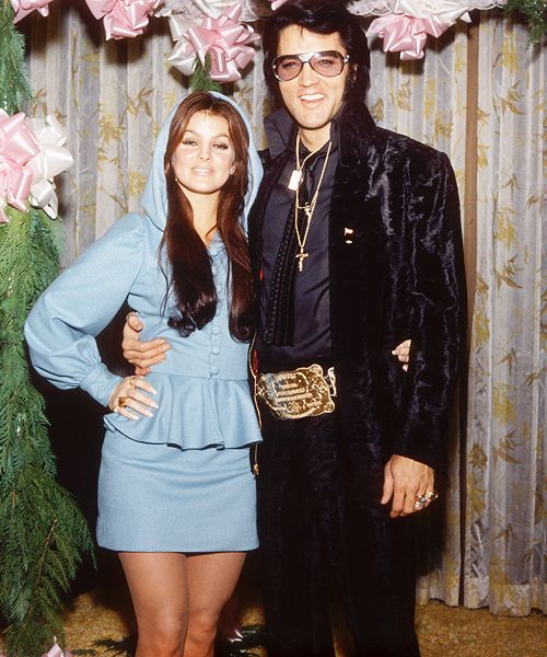 Elvis and Priscilla at George Klein's Wedding in Las Vegas, December 5, 1970.