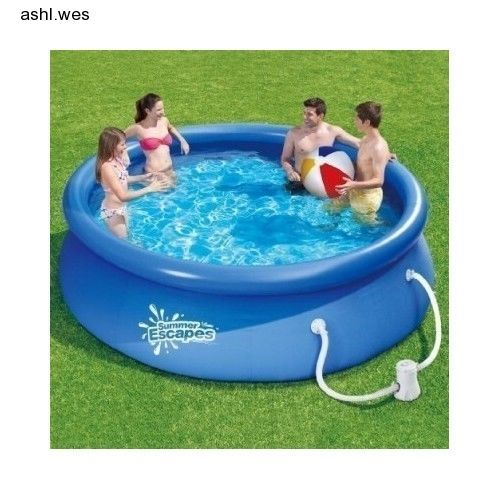 10 ft Paddling Quick Set Ring Summer Swimming Pool + Filter Pump System & Cover
