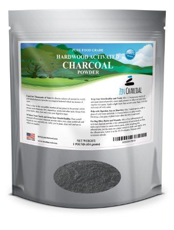 1 Lb. All Natural FOOD GRADE Activated Charcoal Powder from USA Hardwood Trees. Whitens Teeth, Rejuvenates Skin and Hair, Detoxifies the Body. Helps with Digestion. Treats Accidental Poisoning, Bug Bites and Wounds. FREE scoop included. 100% Carbon.
