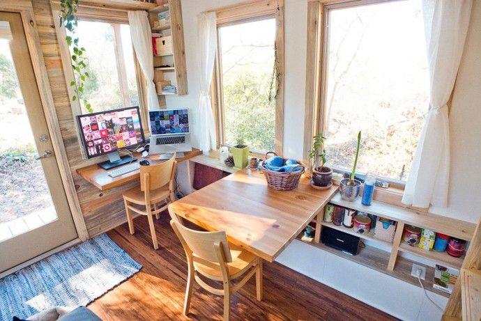 klein Ess Bereich winzige Mini-Projekthaus die Größe eines kleinen Schlafzimmer-Designs von Alek Lisefski