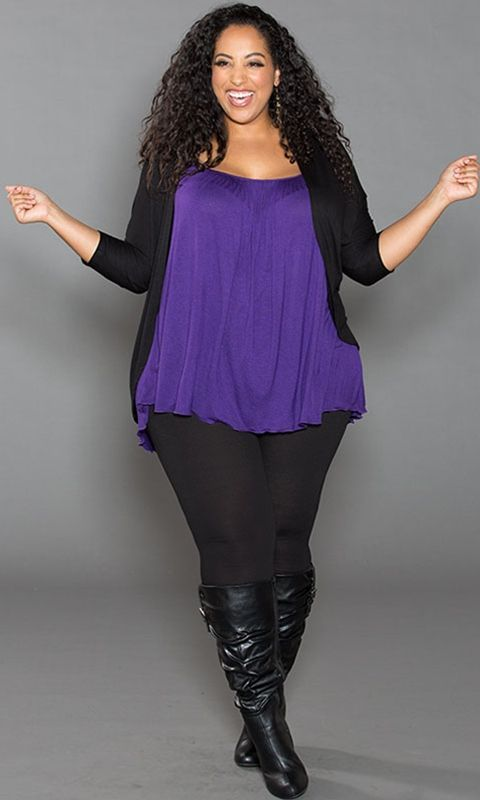 Shop www.curvaliciousclothes.com SAVE 15% Use code: SVE15 at checkout Pretty Cami in Purple Your essential camisole with tummy-concealing style!