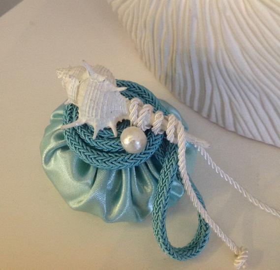 Sacchetto portaconfetti Tiffany con conchiglia