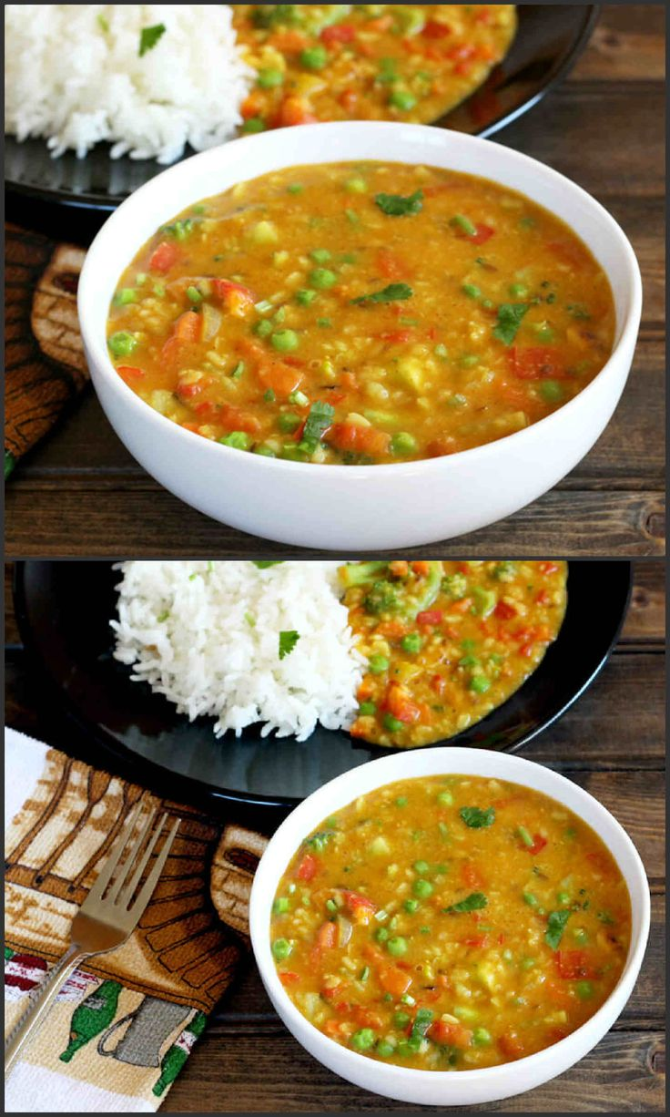 Mixed Vegetable Dal is a healthy, nutritious and a flavorful vegan recipe that is an alternative to traditional dal and can be prepared in less than 25 minutes. #spicy #healthy #diet #vegan #vegetarian #gluten free #delicious #food #foodie #lunch #dinner