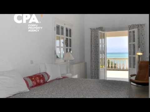 Sea front villa for sale, comprising of 2 apartments, in Astrakeri Corfu-CPA 3646 - YouTube