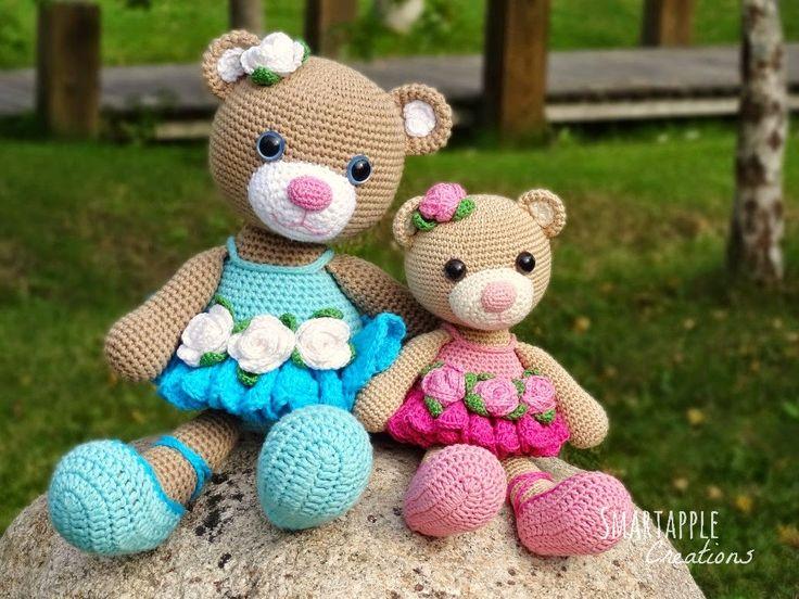 Smartapple Creations - amigurumi and crochet: Bibi the Ballerina Bear amigurumi pattern is available