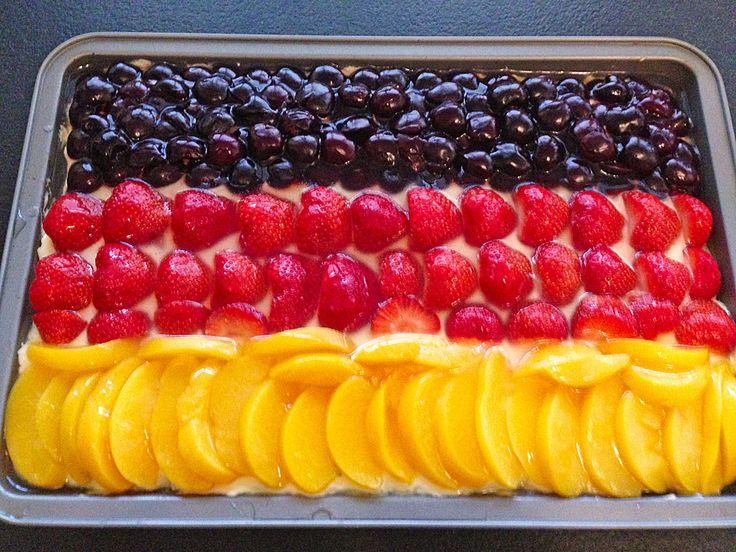 Geheime Rezepte: Erdbeer-Kuchen mit Vanillecreme vom Blech