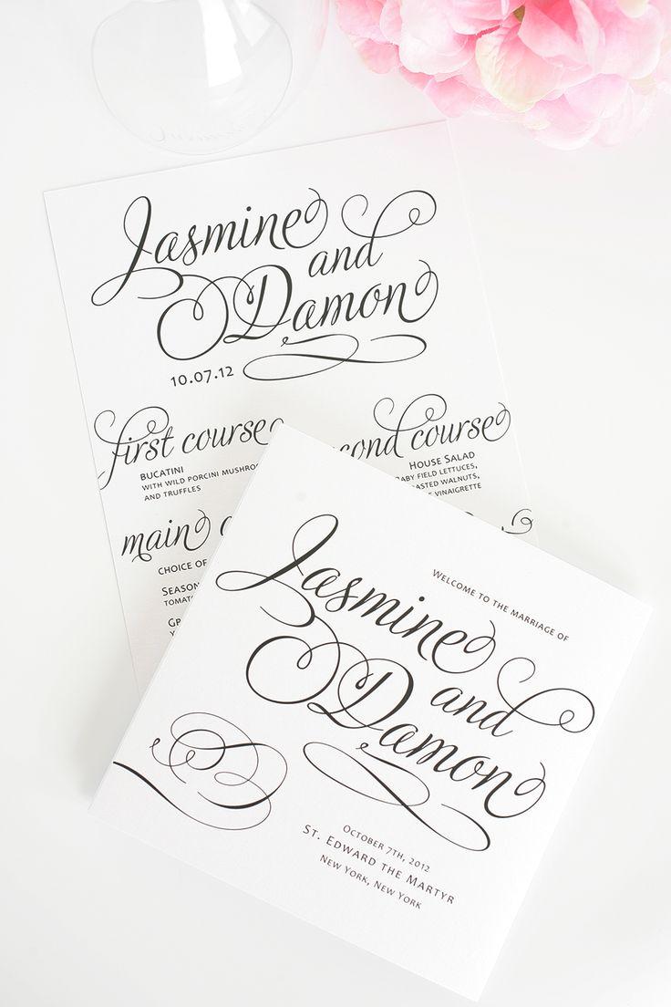Charming Script Wedding Programs
