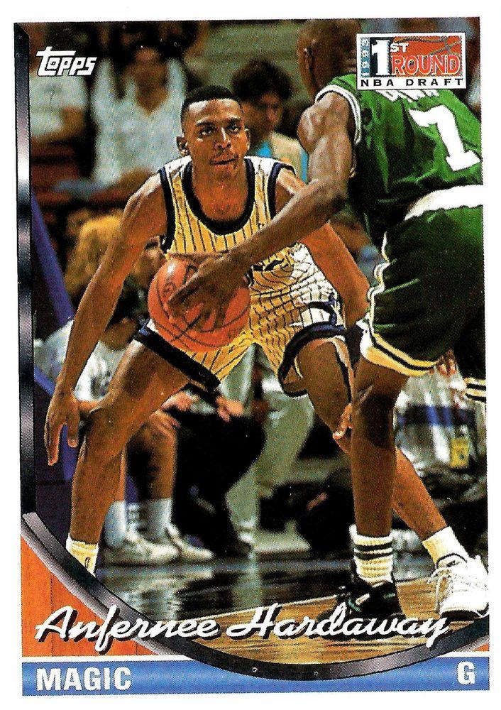 1993-94 TOPPS  #334  Anfernee Hardaway 1st Round NBA Draft Rookie Card  - MINT