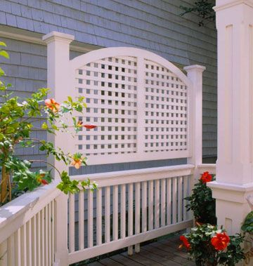 adding lattice to top of fence woodworking projects plans ForBalcony Privacy Solutions