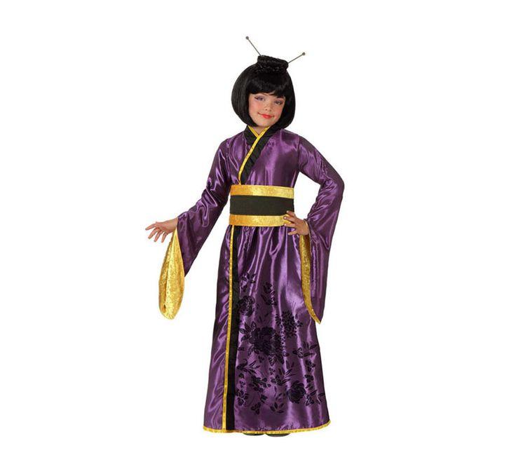 Disfraz de Geisha Japonesa para niñas de 3-4 años