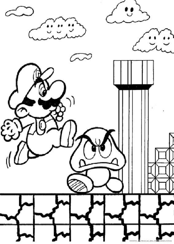 13 Besten Ausmalbilder Mario Bilder Auf Pinterest