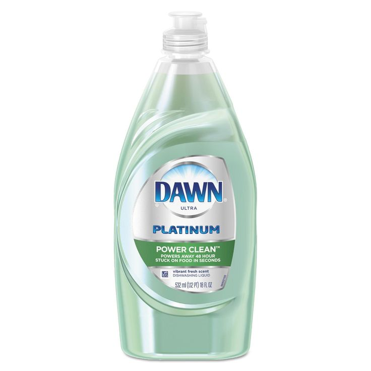 Dawn Liquid Dish Detergent Power Clean Fresh Scent 18-ounce Bottle 10/Carton