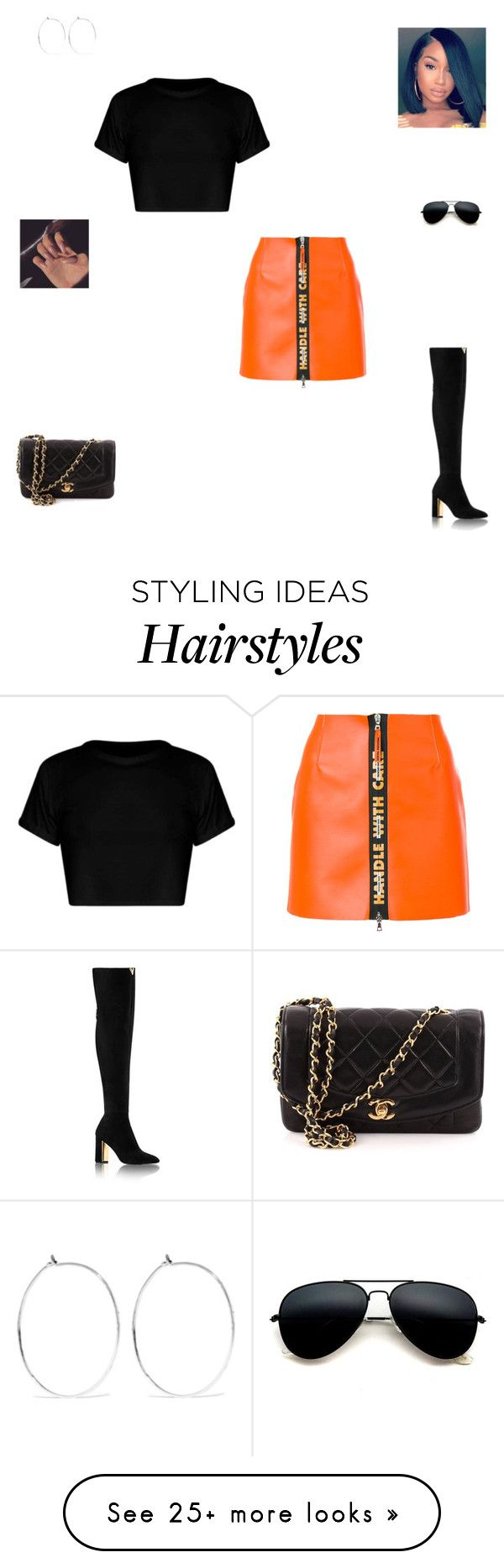 """""""Handle with care"""" by synclairel on Polyvore featuring Heron Preston, Chanel, Catbird, Winter, cute, casual and ootd"""