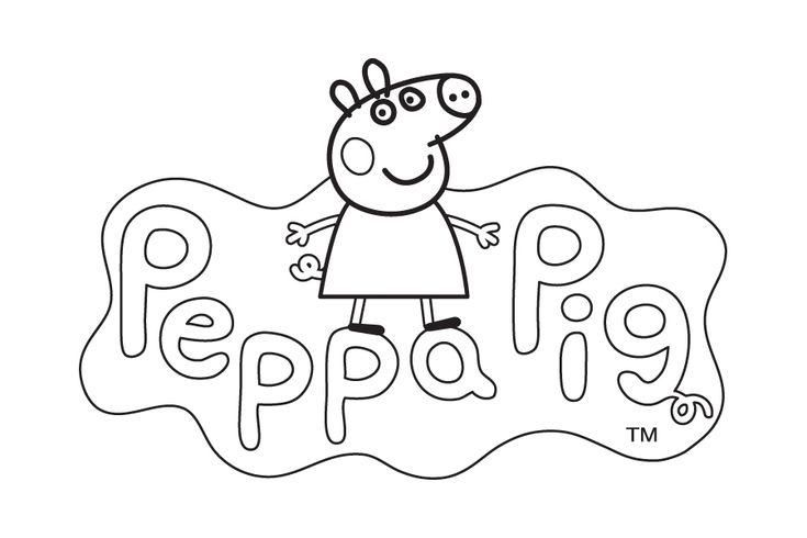 Dibujo de Peppa Pig para colorear. Logo