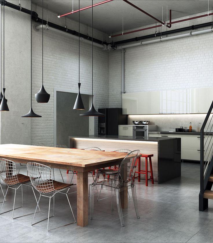 Industrial Kitchen by Alberth Costa
