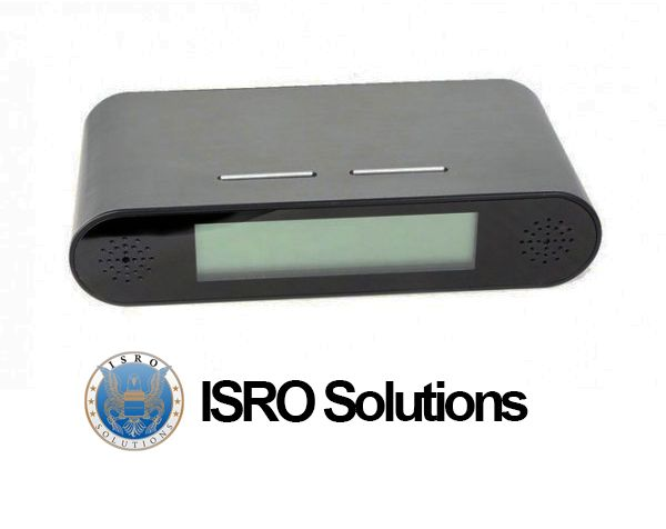 Digital Clock with Hidden Camera PV FM-10 ISR-D140  This professional device has an HD hidden camera and a built-in DVR.  With a simple and elegant design, this professional device from Lawmate™ can be placed on a desk, on a nightstand, in the library and it is a suitable means of surveillance. The built-in high definition camera is carefully placed so that it remains hidden from the unknowing eyes.