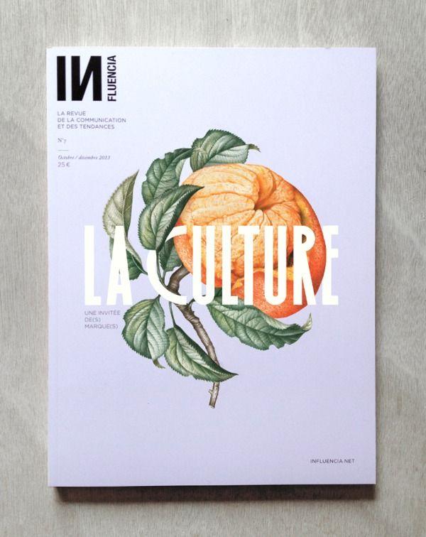 Graphic design: magazine cover, cool typography, pumpkin, Editorial  Publication / Influencia
