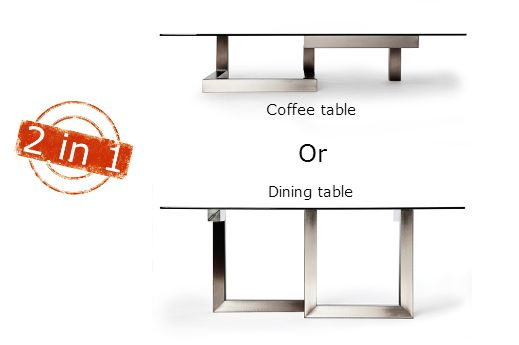 Transprofil | Contemporary furniture and modern design ADAP Table - Awesome dining table or coffee table (3 sizes)