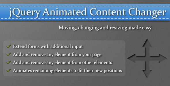 nice jQuery Animated Content Changer