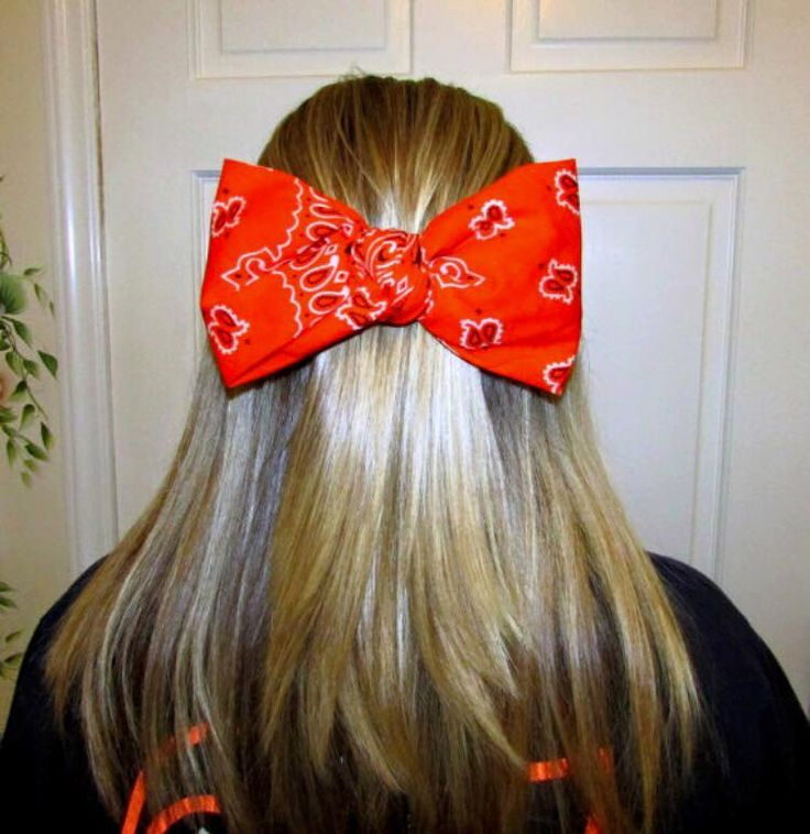 Bandana hair bow, bandana bow, large hair bow, hair accessories, teen accessories, womens accessories, bows for hair, bows, hair bows by ShelbysCountryCorner on Etsy https://www.etsy.com/listing/228428233/bandana-hair-bow-bandana-bow-large-hair