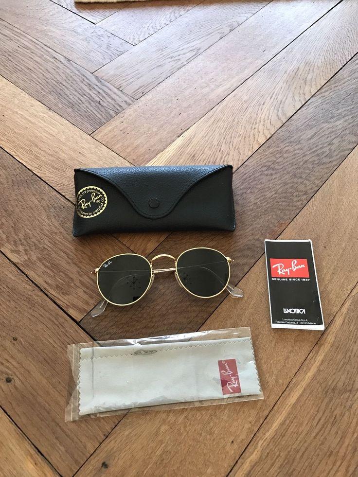 RAY BAN RB 3447 001 ROUND METAL GR. 47 ORIGINAL! Nur 1 mal Getragen! in Kleidung & Accessoires, Damen-Accessoires, Sonnenbrillen & Brillen | eBay!