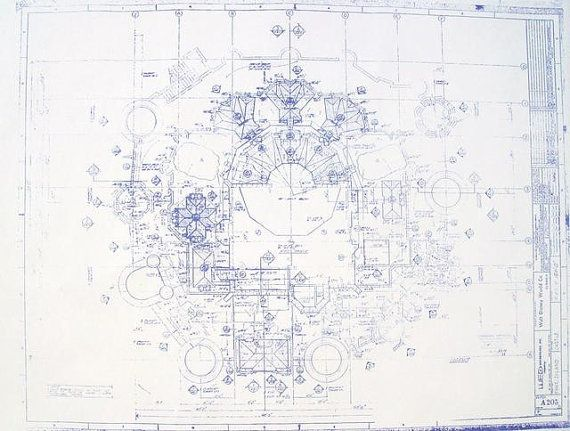 69 best blueprints images on pinterest architectural drawings walt disney world castle roof plan blueprint by blueprintplace 1499 malvernweather Gallery