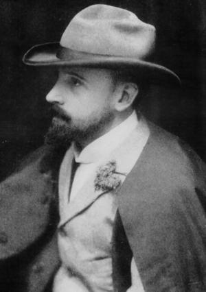 Portrait of Arthur Steeton (1867-1943)....Streeton was an Australian landscape painter, with some personal style....