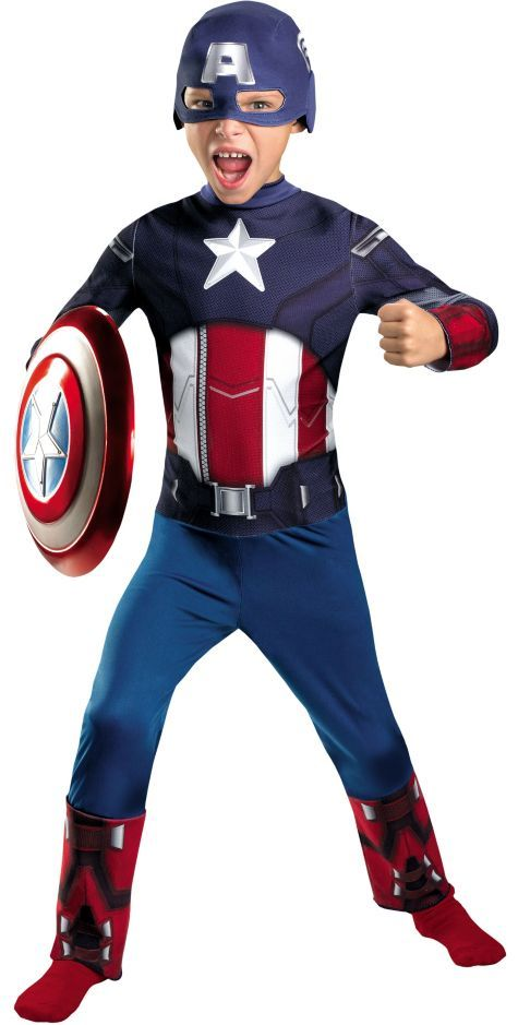 Boys The Avengers Captain America Costume - Party City
