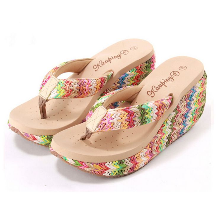 2016 Flip Flops Women Sandals shoes sandals Platform Sandals Wedge Ladies High Heel Shoes Beach sandalias sandalias mujer s302 - CattleyaStore CattleyaStore