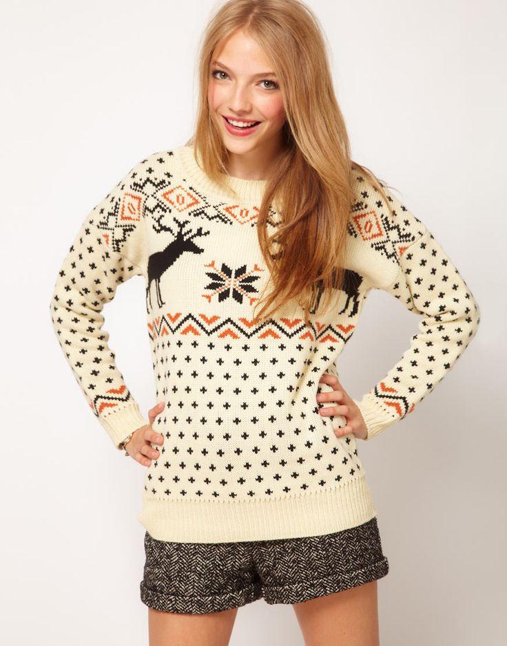 ASOS Reindeer Fairisle Sweater. I think I need a reindeer sweater this holiday season.