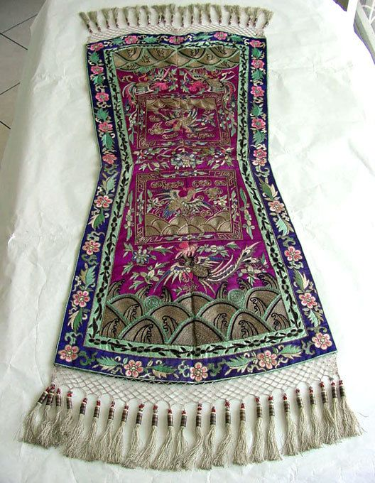 Antique Textile. Gold Metal & Silk Thread Embroidery by chalcroft, $385.00