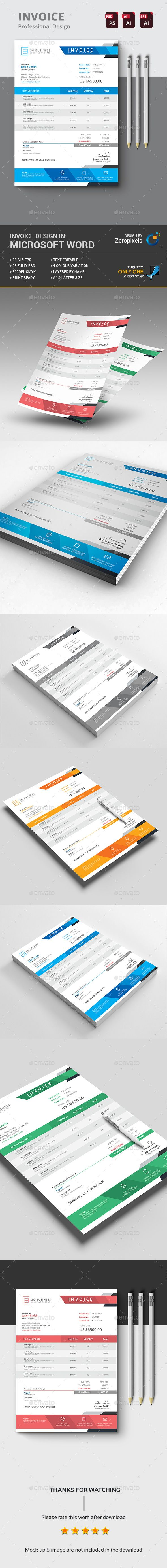 Buy The Invoice by zeropixels on GraphicRiver